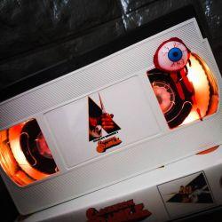 Retro VHS Lamp Clockwork Orange