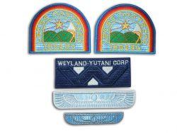 Alien Movie Weyland Nostromo Sew-On Emblem Crew Patch Set