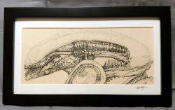 Xenomorph Alien Movie Framed and Signed Print