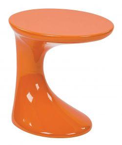 Avenue Six Slick High Gloss Side Table, Orange