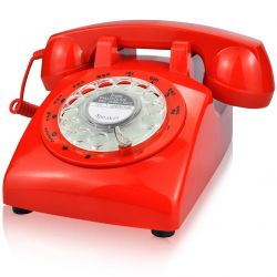 EC VISION 1960's STYLE Rotary Retro Old Fashioned Telephone