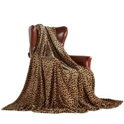MERRYLIFE Decorative Throw Blanket, Cheetah