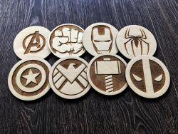 Avengers Coasters, Set of 6