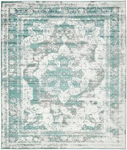 A2Z Rug Traditional Persian Vintage Rug, Turquoise