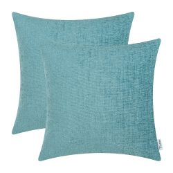 CaliTime Pack of 2 Cozy Throw Pillow, Teal