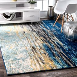 nuLOOM Contemporary Accent Rug, Blue