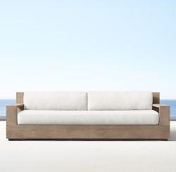 Restoration Hardware Marbella Teak Classic Sofa