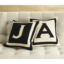 Jonathan Adler Reversible Letter Throw Pillow