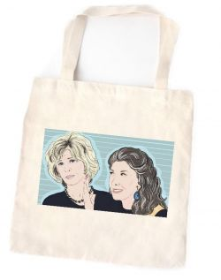 Grace and Frankie Cotton Tote Bag