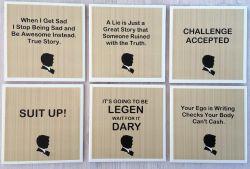 Barney Stinson Coasters – Set of 4 or Set of 6