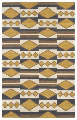 Wrought Studio Marble Falls Gold Geometric Area Rug