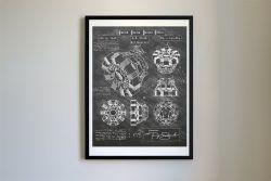 Ironman Arc Reactor, Da Vinci Sketch, Patent Poster Print
