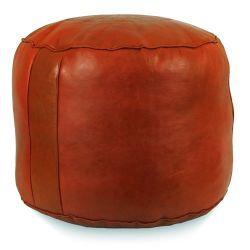 Ivy Bronx Neasa Fez Leather Pouf