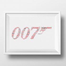 Personalised Word Art 007 Design