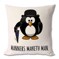 Manners Maketh Man Cushion
