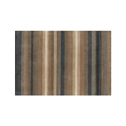 Crate & Barrel Shore Blue Stripe Wool Rug