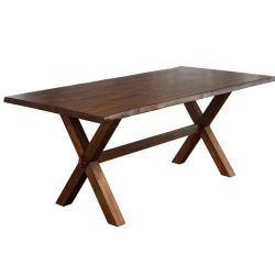 Millwood Pines Tiggs Solid Wood Dining Table