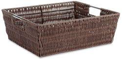 Whitmor Rattique Shelf Storage Tote Basket