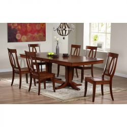 Alcott Hill Garden Grove Extendable Solid Wood Dining Table