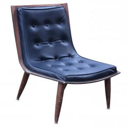 Carter Brothers Scoop Chair Black Mid Century Mod