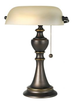Regency Hill Haddington Alabaster Glass Pull Chain Piano Lamp