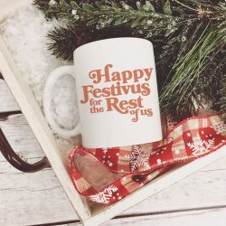 Happy Festivus for the Rest of Us Coffee Mug, Seinfeld Holiday Mug