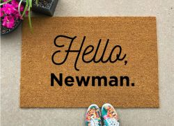 Seinfeld TV Show Gifts – Outdoor Welcome Mat, Hello Newman