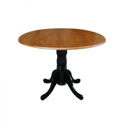 "Three Posts Boothby Round 42"" Dual Drop Leaf Dining Table"