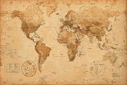 Generic World Map (Antique) Art Poster
