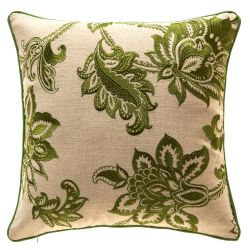 TINA'S HOME French Country Floral Decorative Throw Pillows, Green