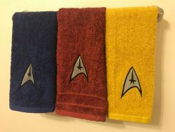 Star Trek Hand Towels – Embroidered Uniform Bathroom Decor