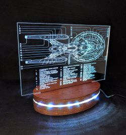 Star Trek Inspired Night Light – Star Ship Schematic