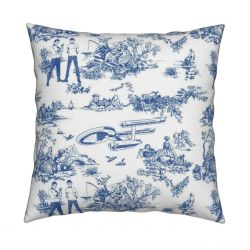 Star Trek Pillow – Toile Blue Pattern