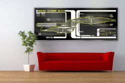 Star Trek Schematic LCARS USS Enterprise Large Print