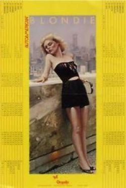 DEBORAH DEBBIE HARRY OF BLONDIE Poster Calendar Promo 1980-1981