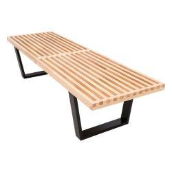 LeisureMod Wood Bench
