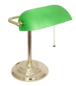 LIGHTACCENTS Metal Bankers Lamp Desk