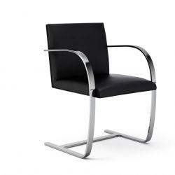 Ludwig Mies van der Rohe Brno Chair, Flat Bar