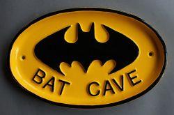 Vintage Bat Cave Batman Funny Sign