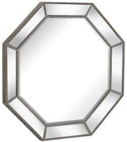Hamilton Hills Large Framed Octagon Wall Mirror