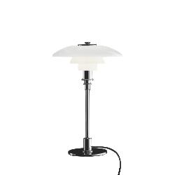 Louis Poulsen PH 3/2 Glass Table Lamp, High Lustre Chrome Plated
