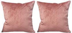 Ekka Modern Home Décor – Dark Dusty Rose Velvet Pillow Covers