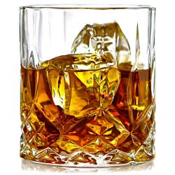 ELIDOMC Lead Free Crystal Whiskey Glasses