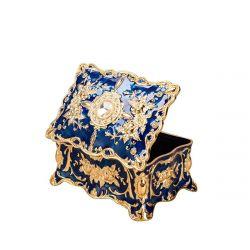 Feyarl Vintage Rectangle Blue Trinket Box