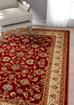 Well Woven Barclay Sarouk Red Traditional Area Rug