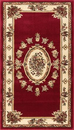 Well Woven Pastoral Medallion Red French Area Rug