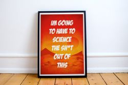 The Martian Quote Typography Print