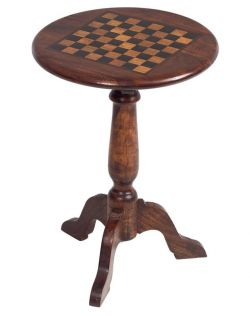 """William Sheppee 21"""" Pub Chess/Checkers Table"""