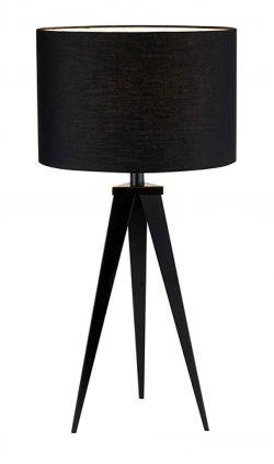 Adesso Director Table Lamp, Black