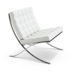 Ludwig Mies van der Rohe Barcelona Chair, White